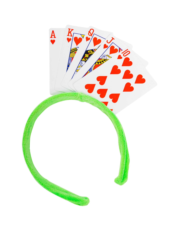 Kostuemzubehor Haarreif Spielkarten bunt Farbe: multicolor bzw. bunt