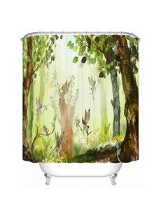 Happy Fairytale-like Spirit World 3D Shower Curtain