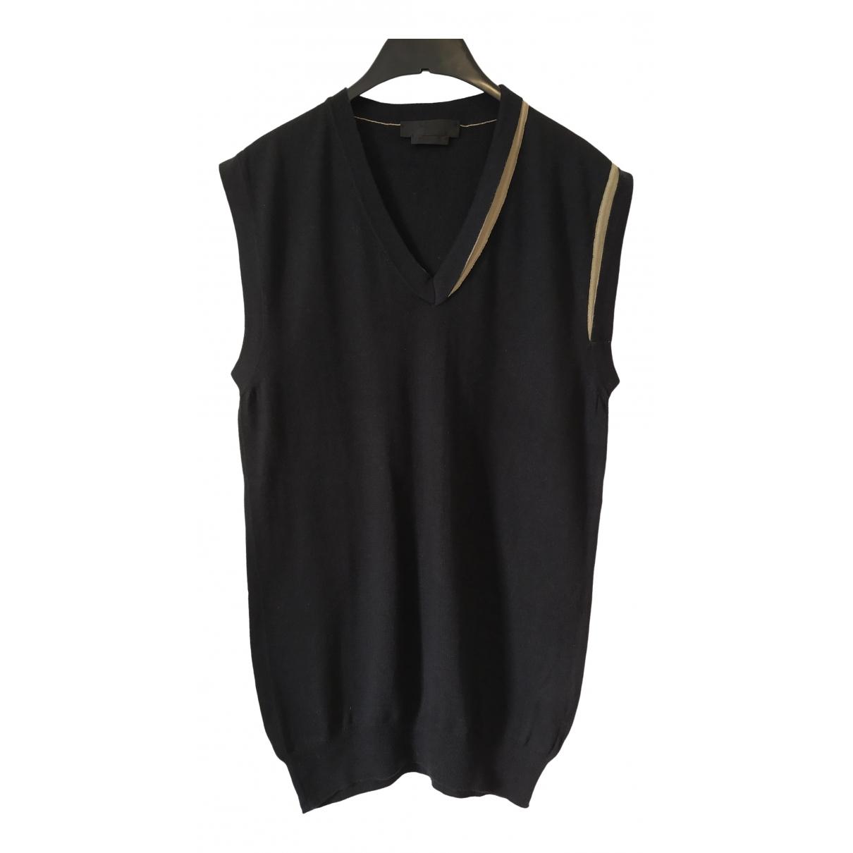 Alexander Mcqueen \N Pullover.Westen.Sweatshirts  in  Schwarz Baumwolle