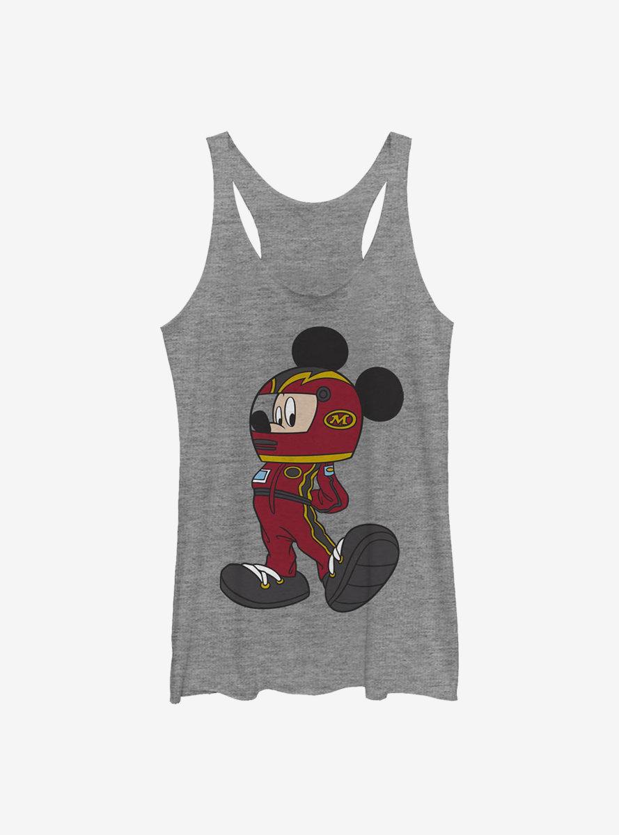 Disney Mickey Mouse Racecar Driver Womens Tank Top