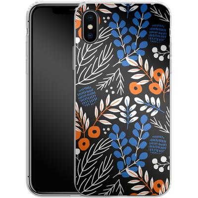 Apple iPhone X Silikon Handyhuelle - Forest Floor von Jenna Kunnas