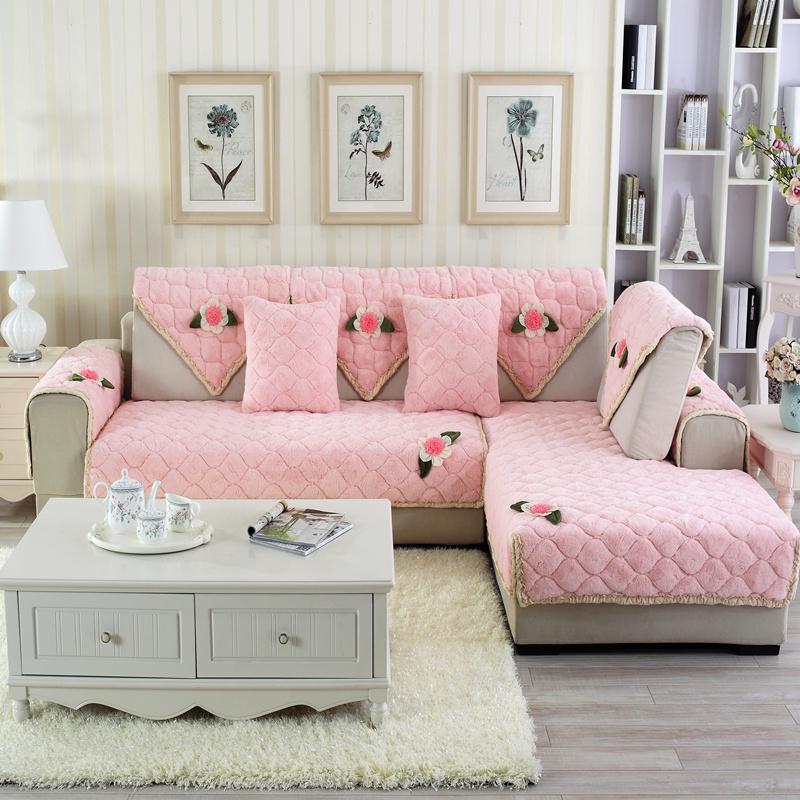 Blue Elegant Quilting Cushion Slip Resistant Decorative Four Seasons Sofa Covers