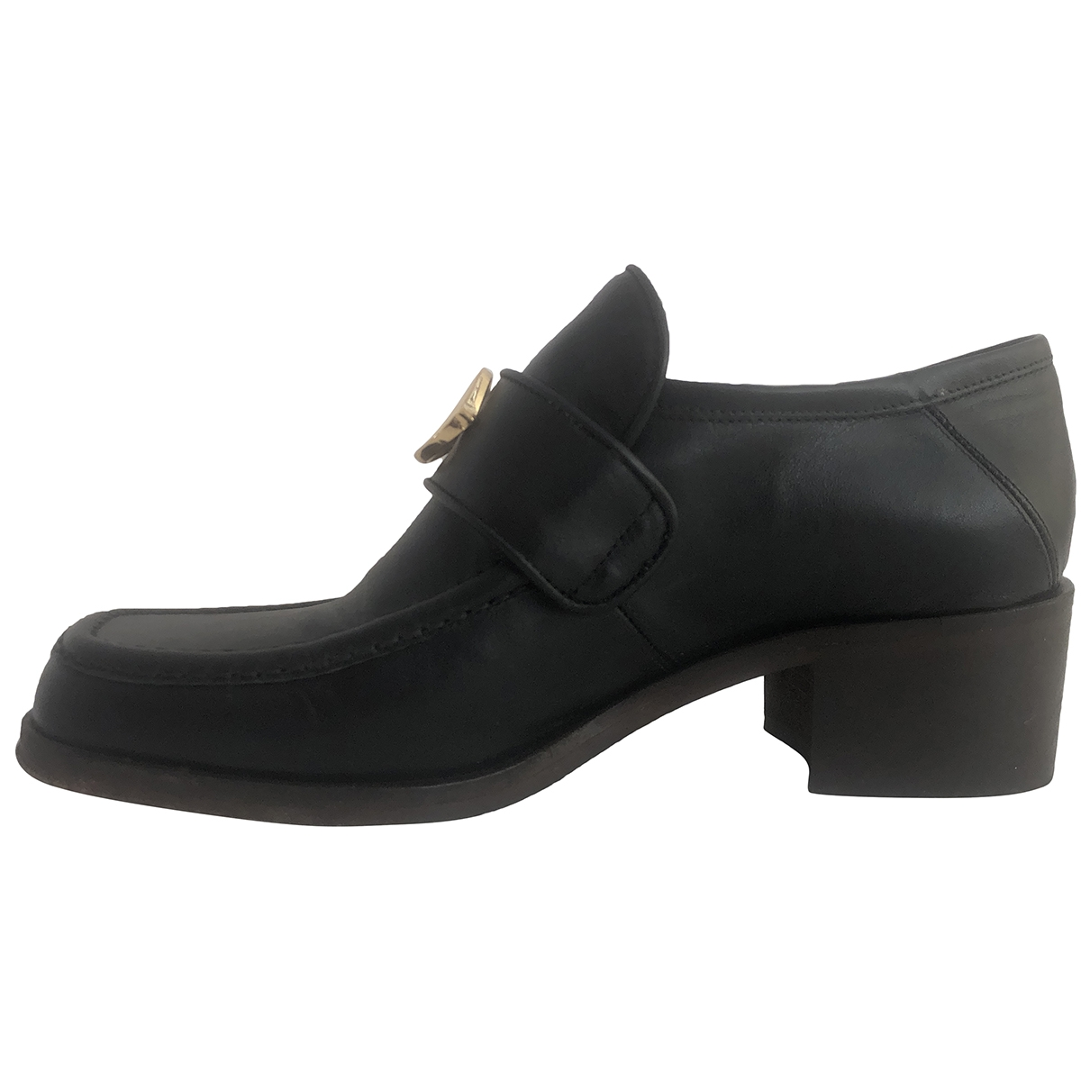 Ottod'ame \N Black Leather Heels for Women 37 IT
