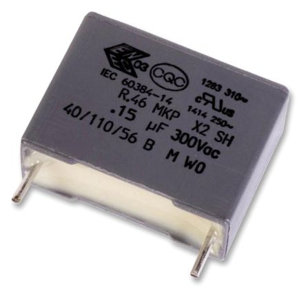 KEMET 4.7μF Polypropylene Capacitor PP 310 V ac, 630 V dc ±20% Tolerance Through Hole R46 Series (4)
