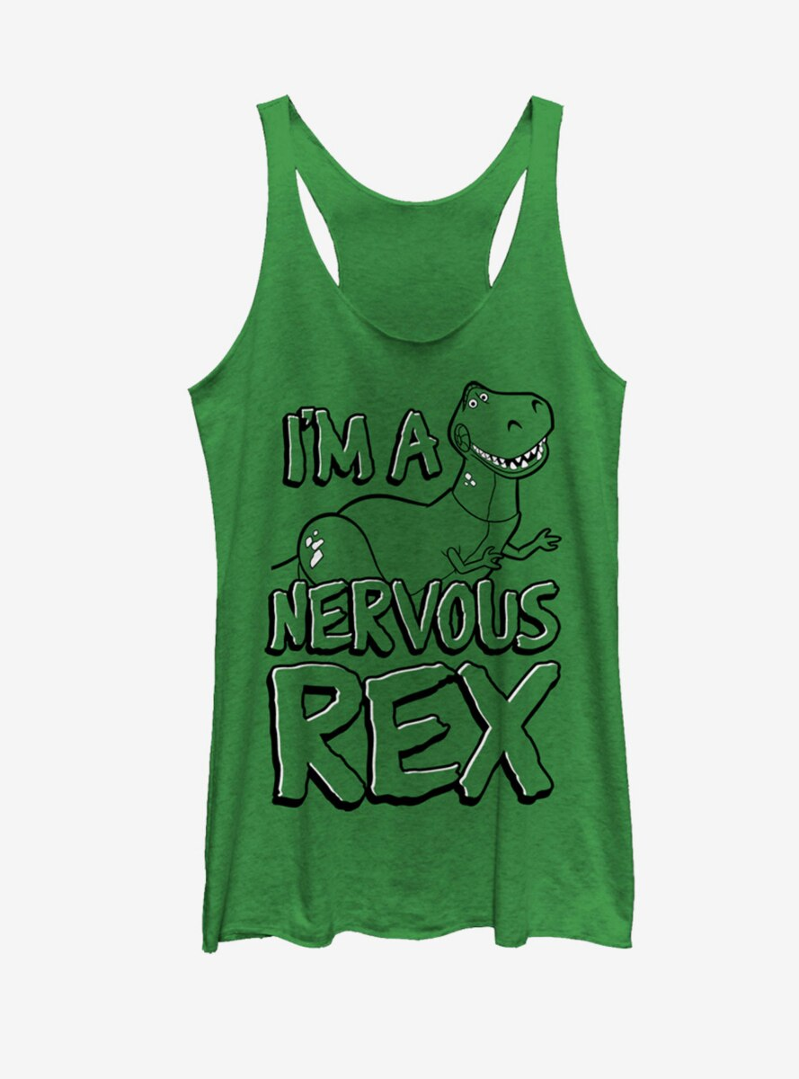 Disney Pixar Toy Story Nervous Rex Womens Tank