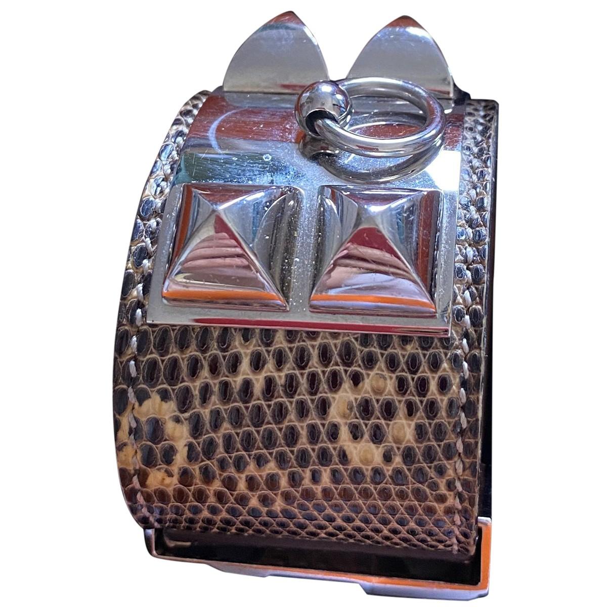 Hermes - Bracelet Collier de chien  pour femme en lezard - beige