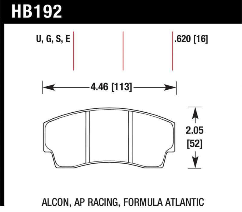 Hawk Performance HB192W.620 Disc Brake Pad