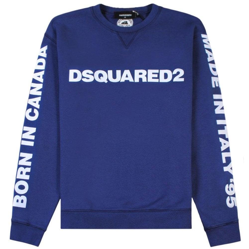 DSquared2 Arm Logo Sweatshirt Blue Colour: BLUE, Size: EXTRA LARGE