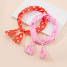 2pcs Toddler Girls Polka Dot Headband