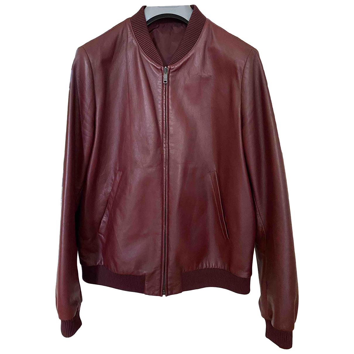 Prada N Burgundy Leather jacket  for Men 50 IT