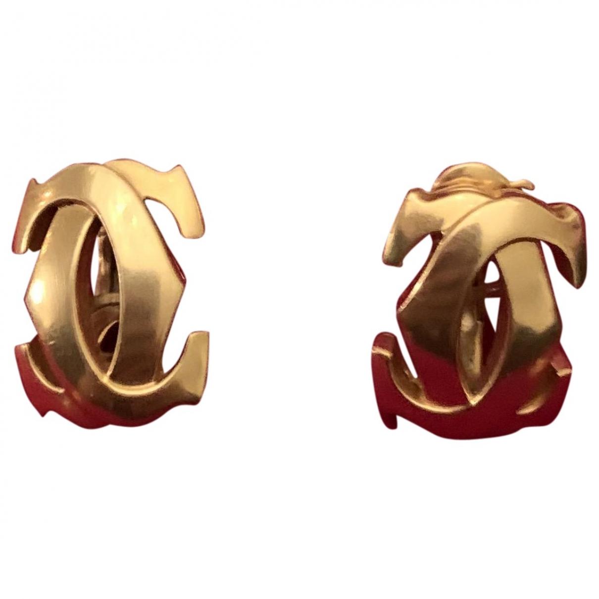 Cartier - Boucles doreilles   pour femme en or jaune - dore
