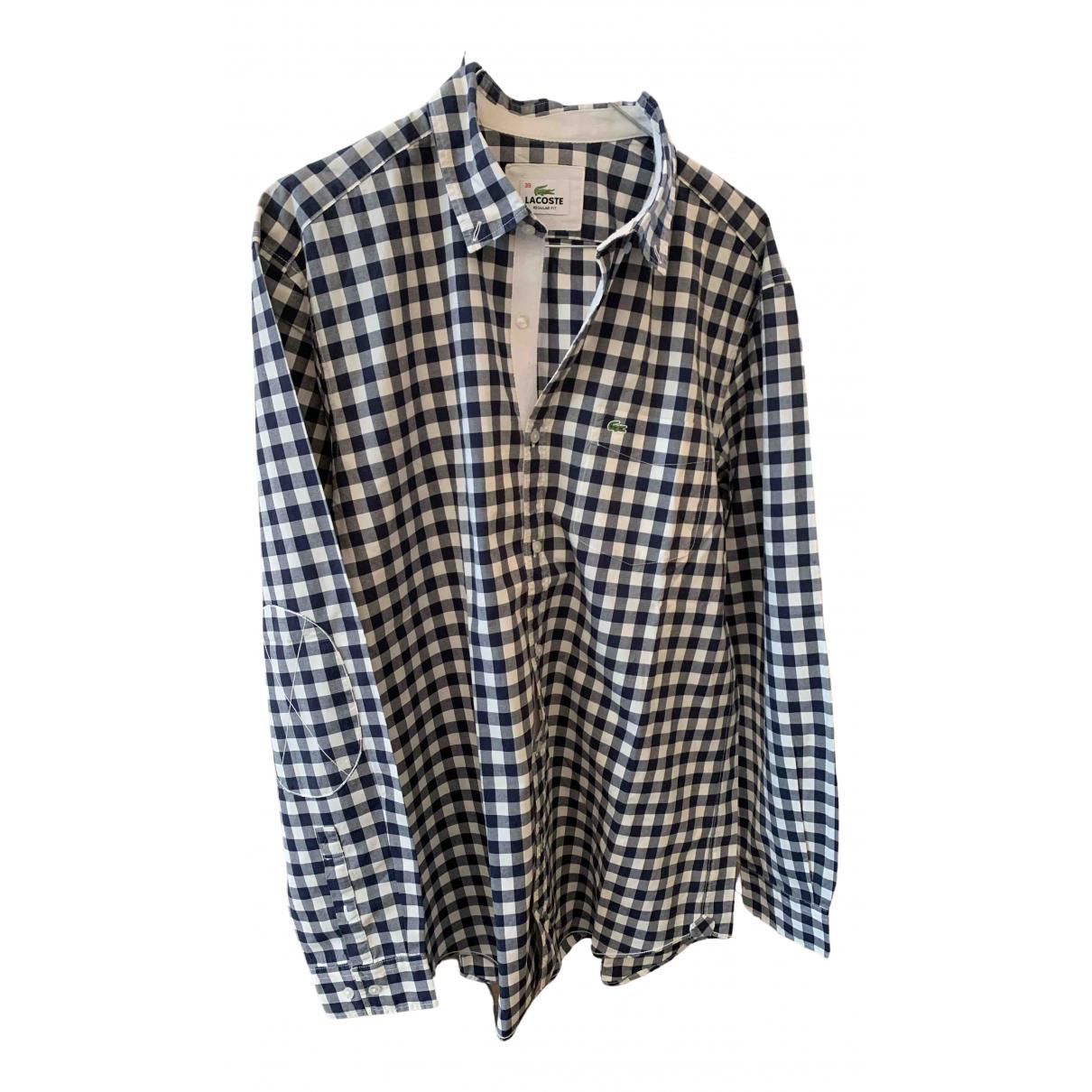 Lacoste - Chemises   pour homme en coton - bleu