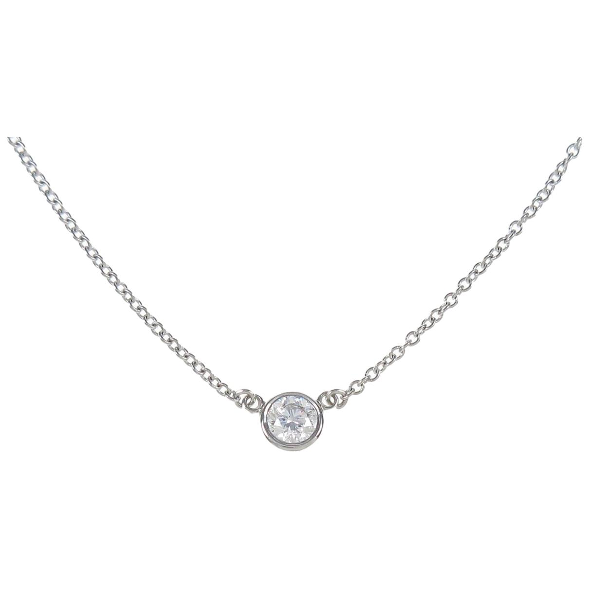 Tiffany & Co - Collier   pour femme en platine - argente