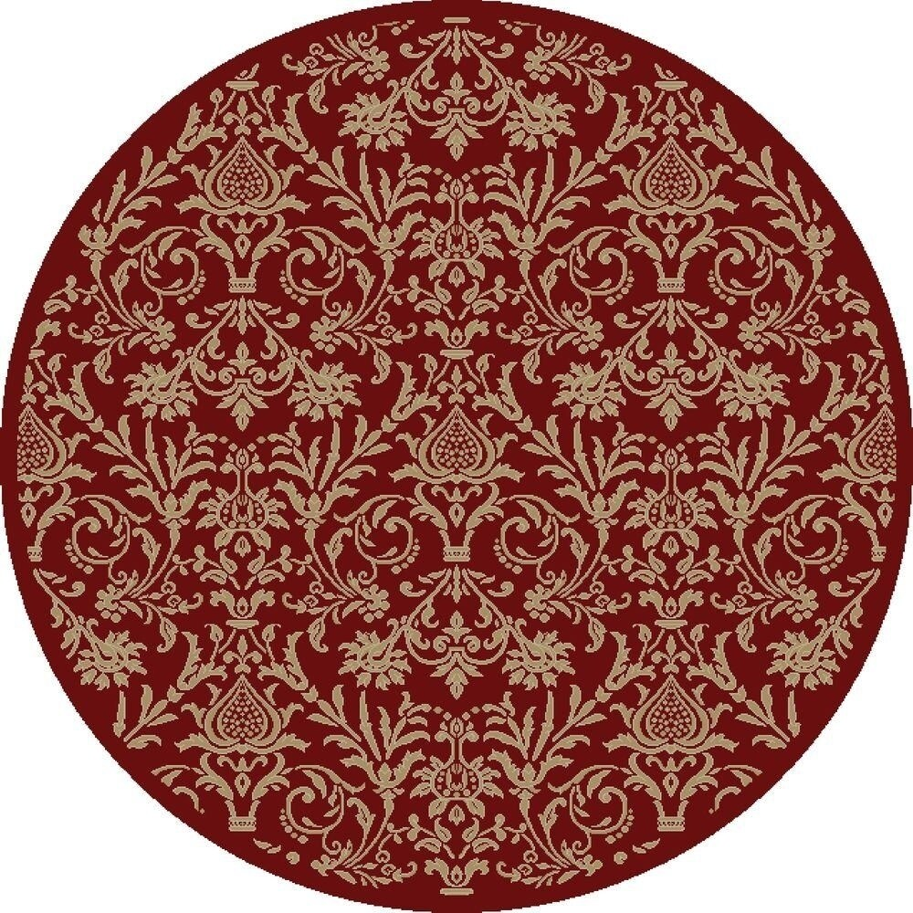 Concord Global Jewel Damask Area Rug (Brown/Beige 5'3