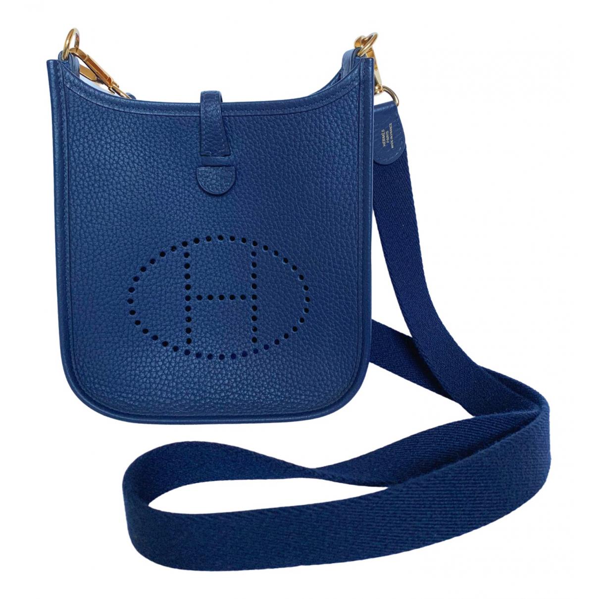 Hermes Evelyne Handtasche in  Marine Leder