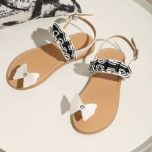 Toddler Girls Toe Loop Two Part Sandals