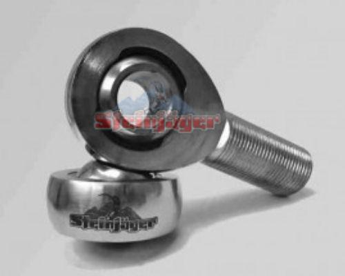 Steinjager J0014573 1 Pack SJ-MXM-16-12 1 inch -12 RH x 0.75 inch Bore 4130 Chrome Moly Spherical Rod Ends Bearing Bright Chrome Finish