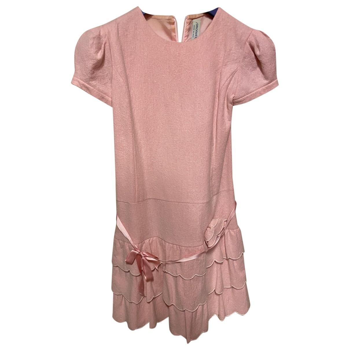 Simonetta \N Kleid in  Rosa Wolle
