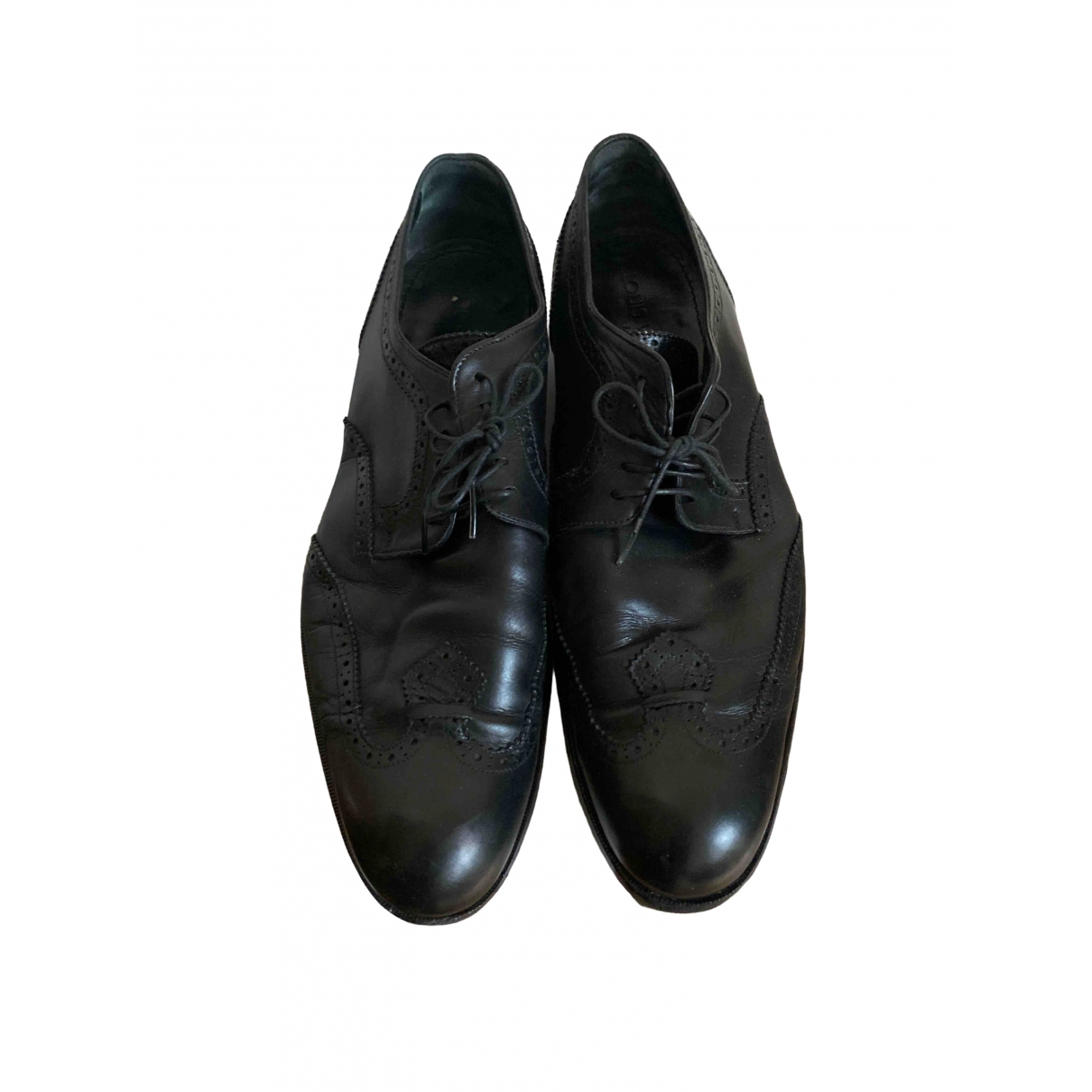 Louis Vuitton \N Black Leather Lace ups for Men 44 EU