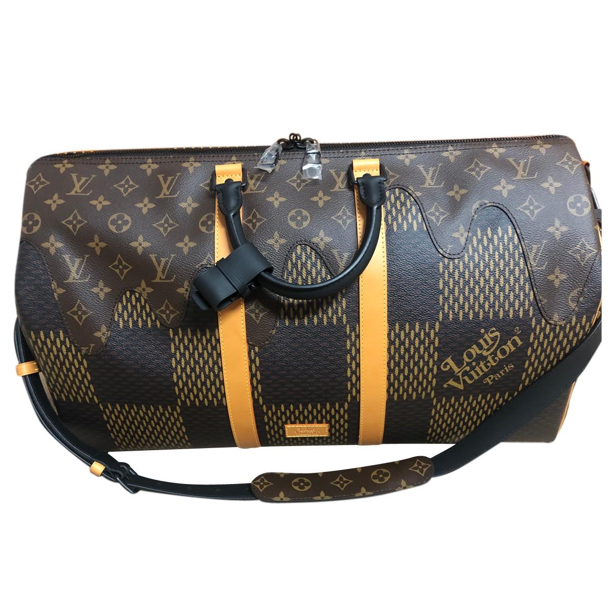 Louis Vuitton X Nigo - Sac   pour homme en cuir - marron