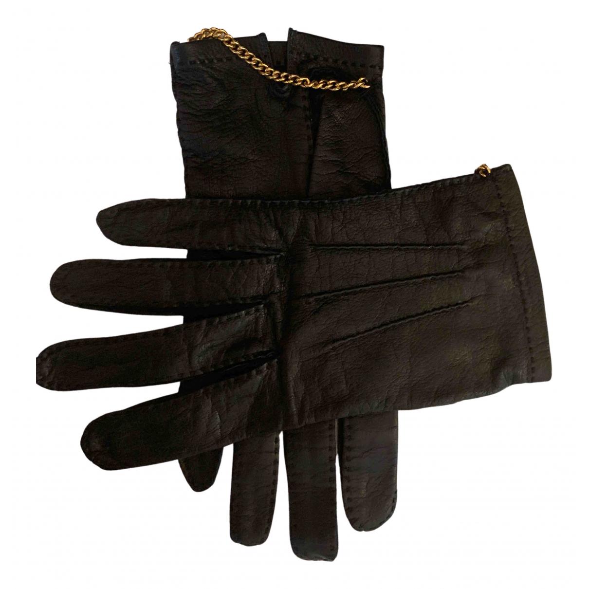 Chanel \N Handschuhe in  Blau Leder