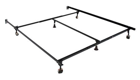 Framos MT-FRAM-QK Queen/King Adjustable Frame (4 Legs) with 4 Casters + 1 Extra Leg  Solid Rivet Construction  Made With High Carbon Rail Steel  Fast