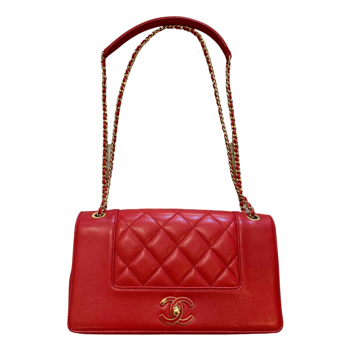 Chanel Diana Red Leather handbag for Women \N