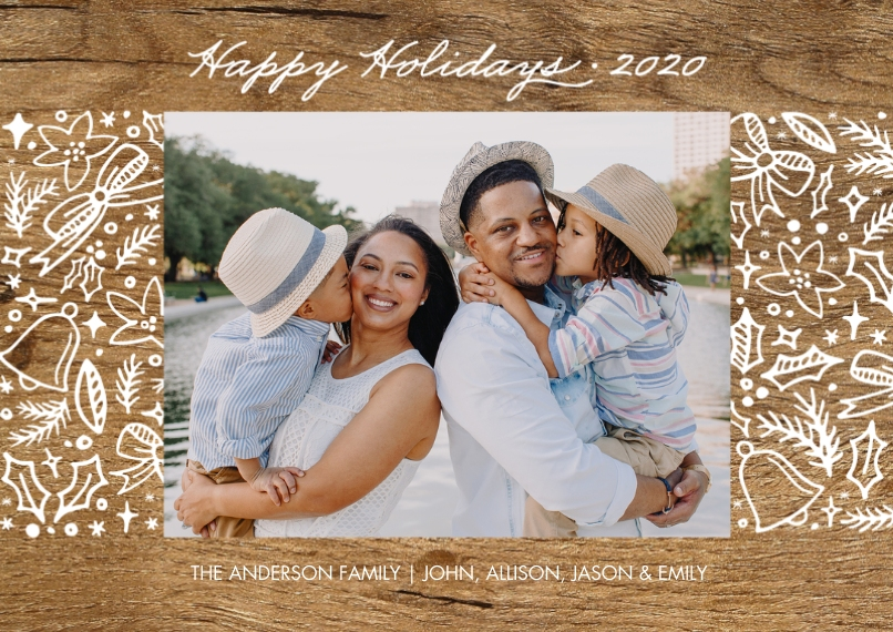 Holiday Photo Cards 5x7 Cards, Premium Cardstock 120lb, Card & Stationery -Holiday 2020 Festive Borders by Tumbalina