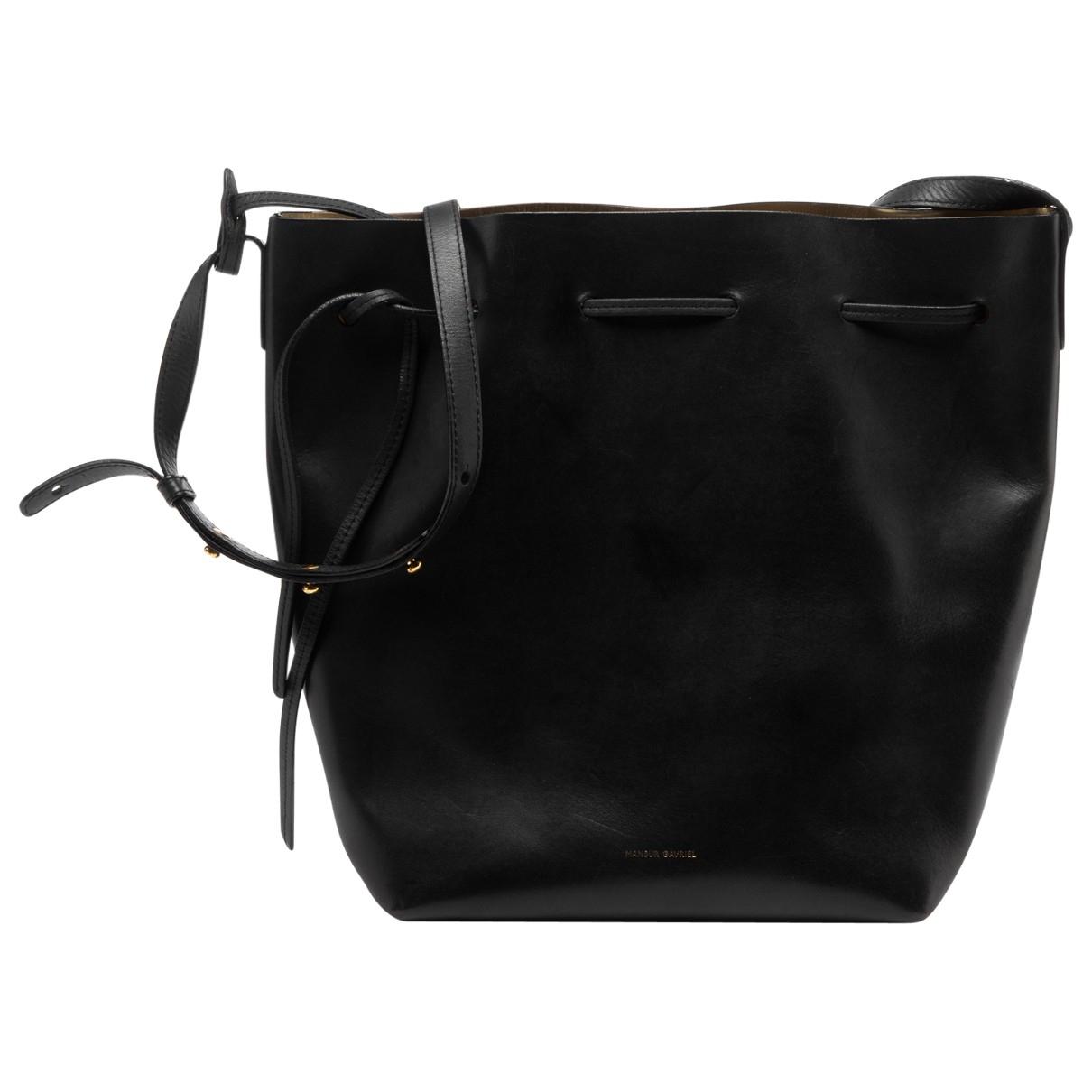 Mansur Gavriel Bucket Handtasche in  Schwarz Leder
