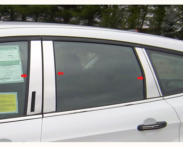 Quality Automotive Accessories 6-Piece Pillar Post Trim with Keyless Entry Access Ford EsCape 2013