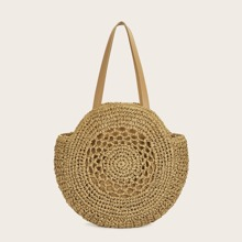 Round Shaped Woven Tote Bag