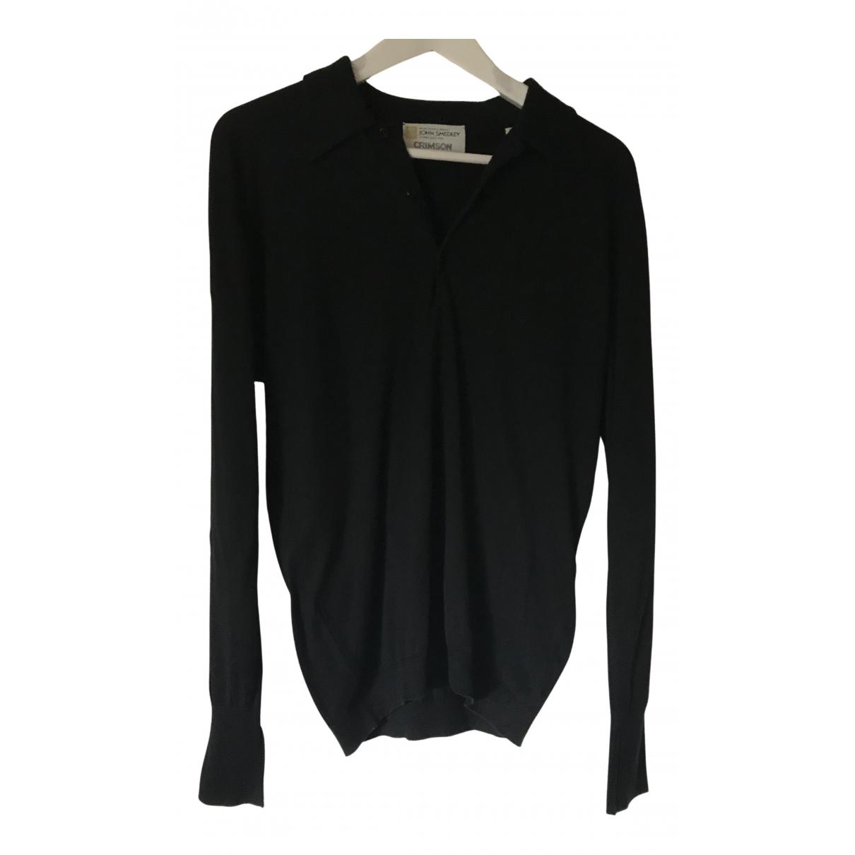 Crimson \N Pullover.Westen.Sweatshirts  in  Schwarz Baumwolle