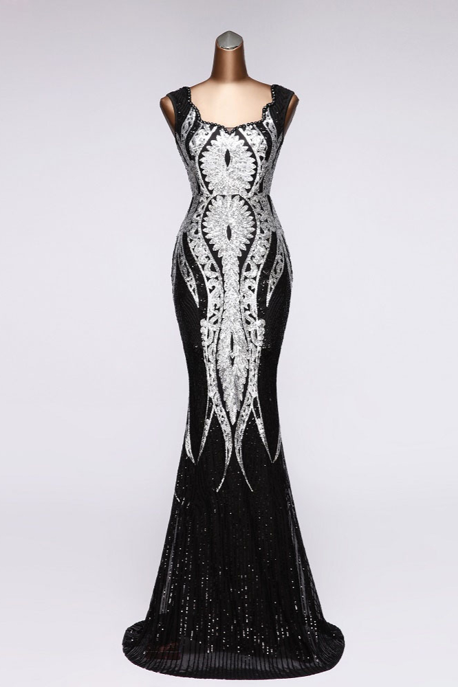 BMbridal Gorgeous Sequined Square-Neck Mermaid Prom Dresses Sleeveless Online