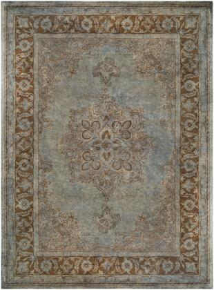 Mykonos MYK-5017 8' x 11' Rectangle Traditional Rug in Light Gray  Charcoal