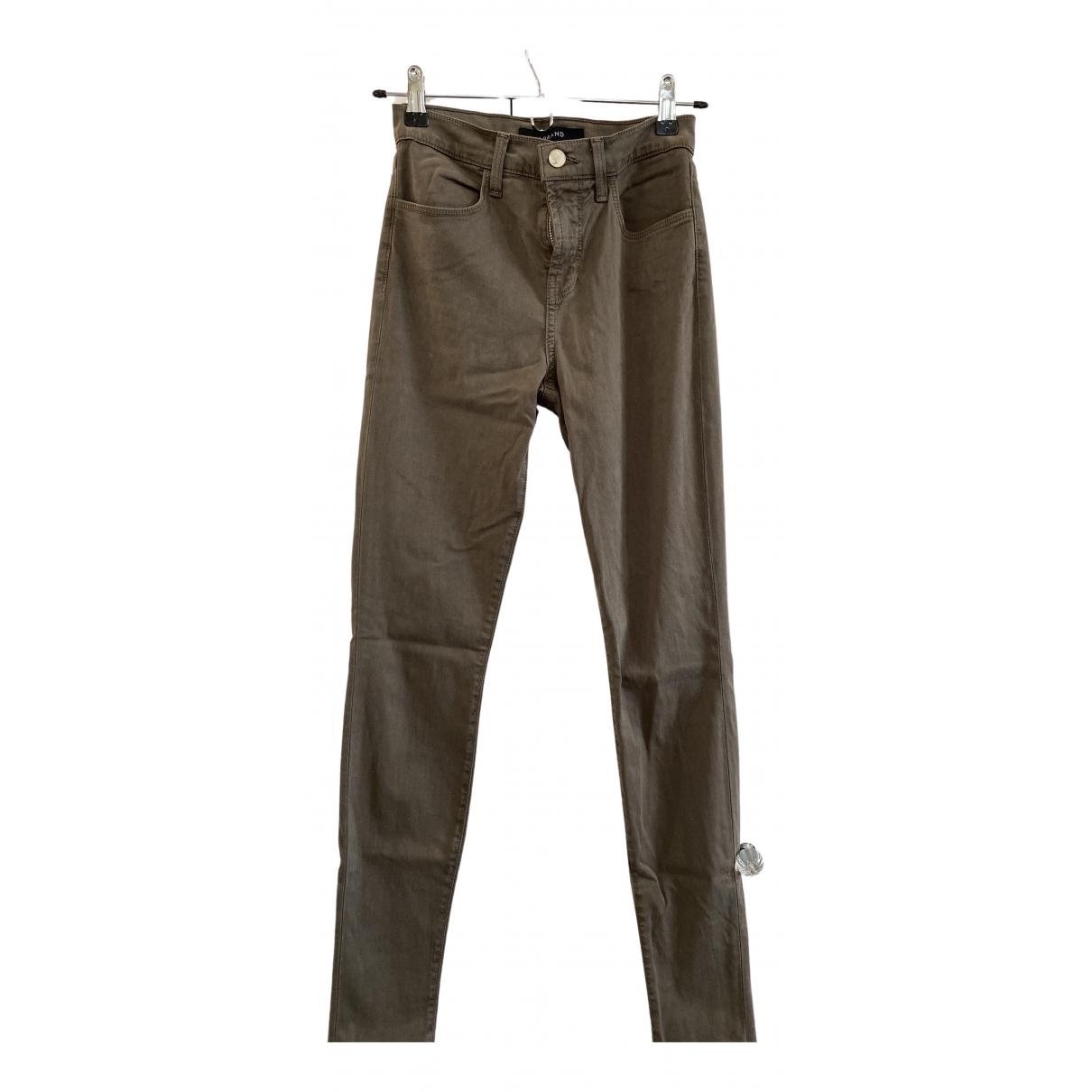J Brand \N Jeans in  Khaki Baumwolle - Elasthan