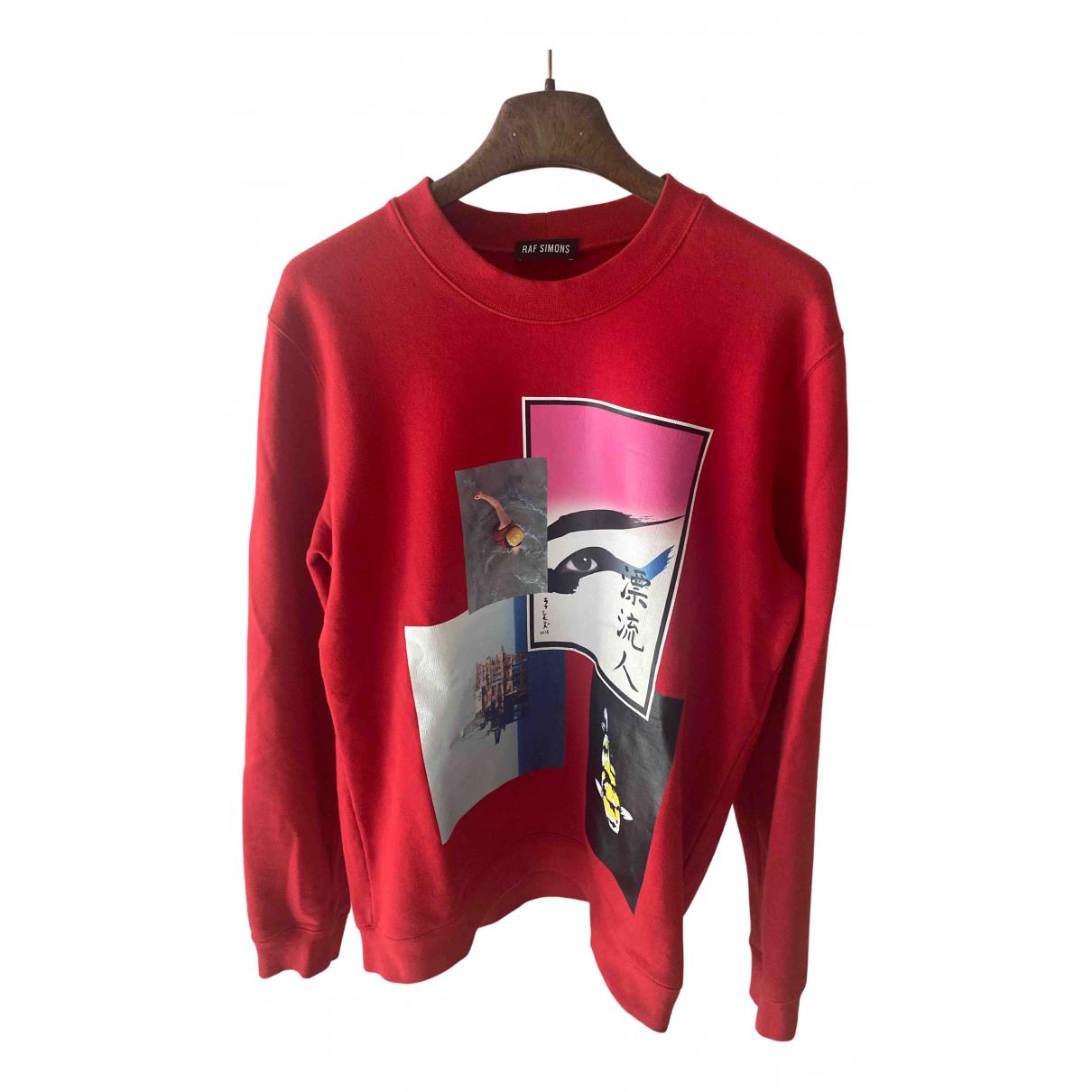 Raf Simons \N Pullover.Westen.Sweatshirts  in  Rot Baumwolle