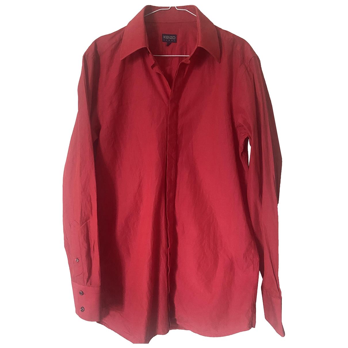 Kenzo - Chemises   pour homme en coton - rouge