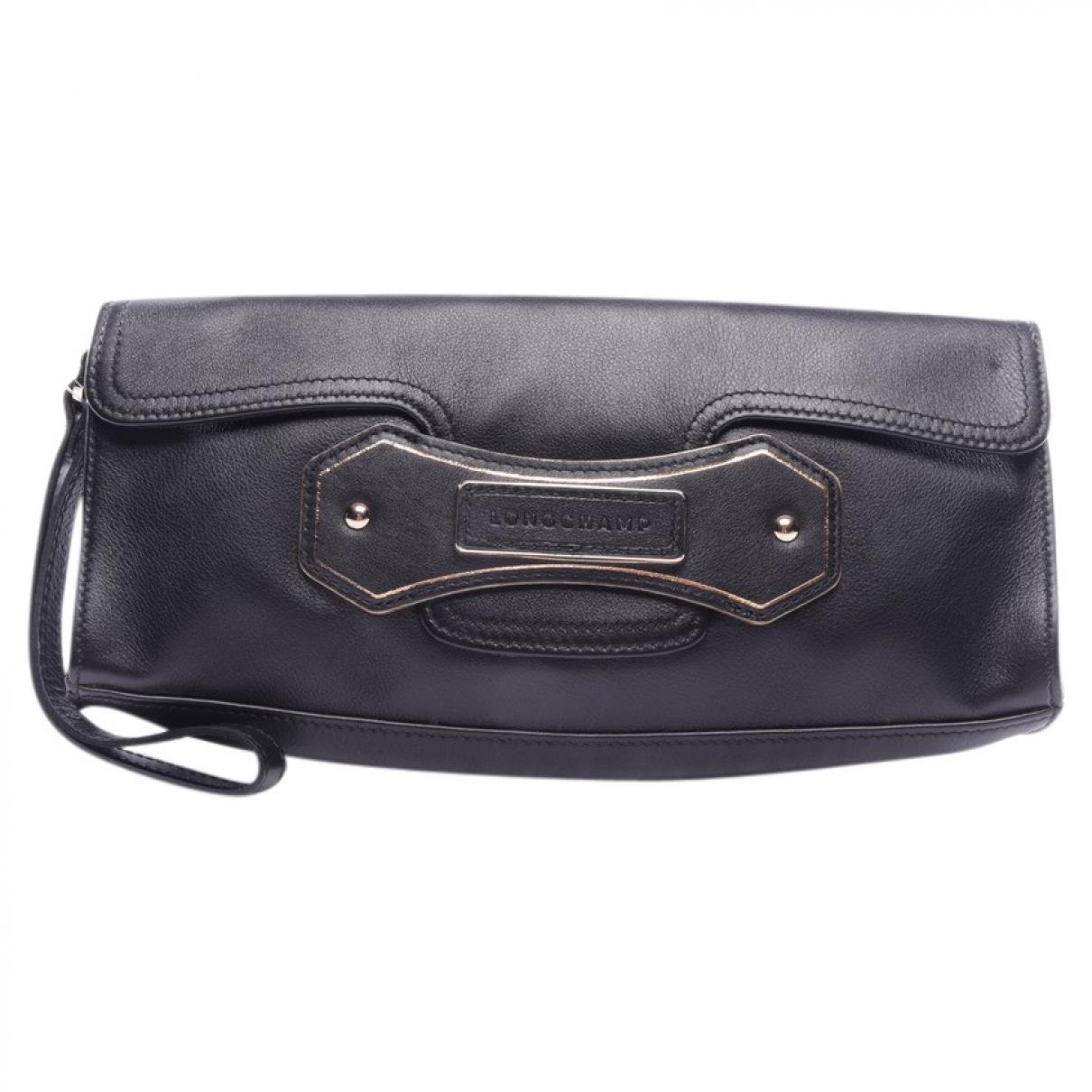Longchamp N Black Leather Clutch bag for Women N