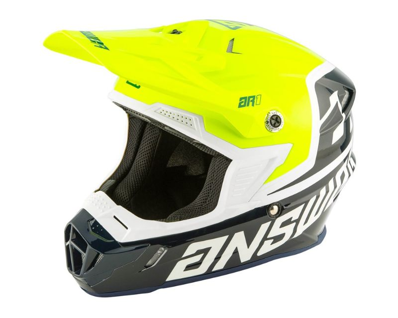 Answer 444418 AR1 Voyd Youth Helmet Midnight Hyperacid White MD