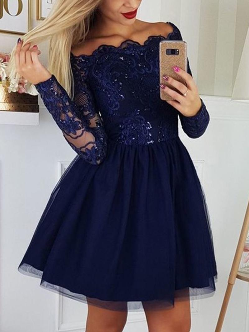 Ericdress Short/Mini Sequins Off-The-Shoulder Cocktail Dress