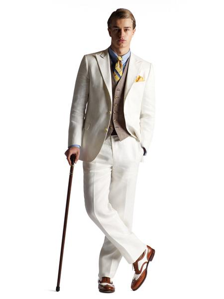 Mens Great Gatsby Men's Clothing Costumes Suits Style For Men white