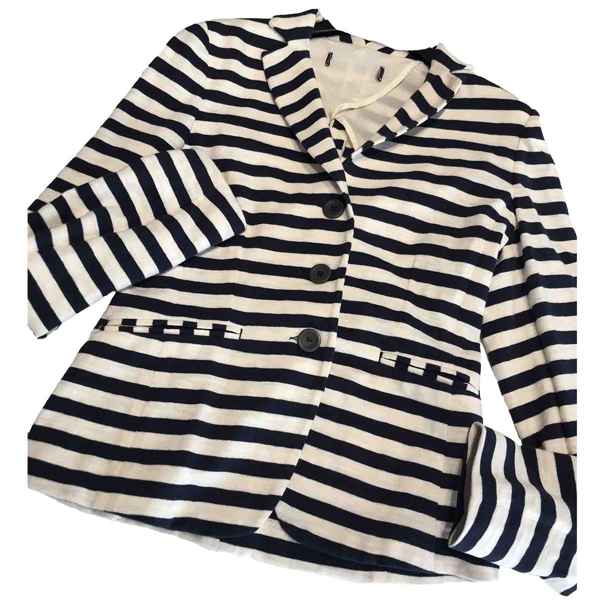 Peserico - Veste   pour femme en coton - bleu