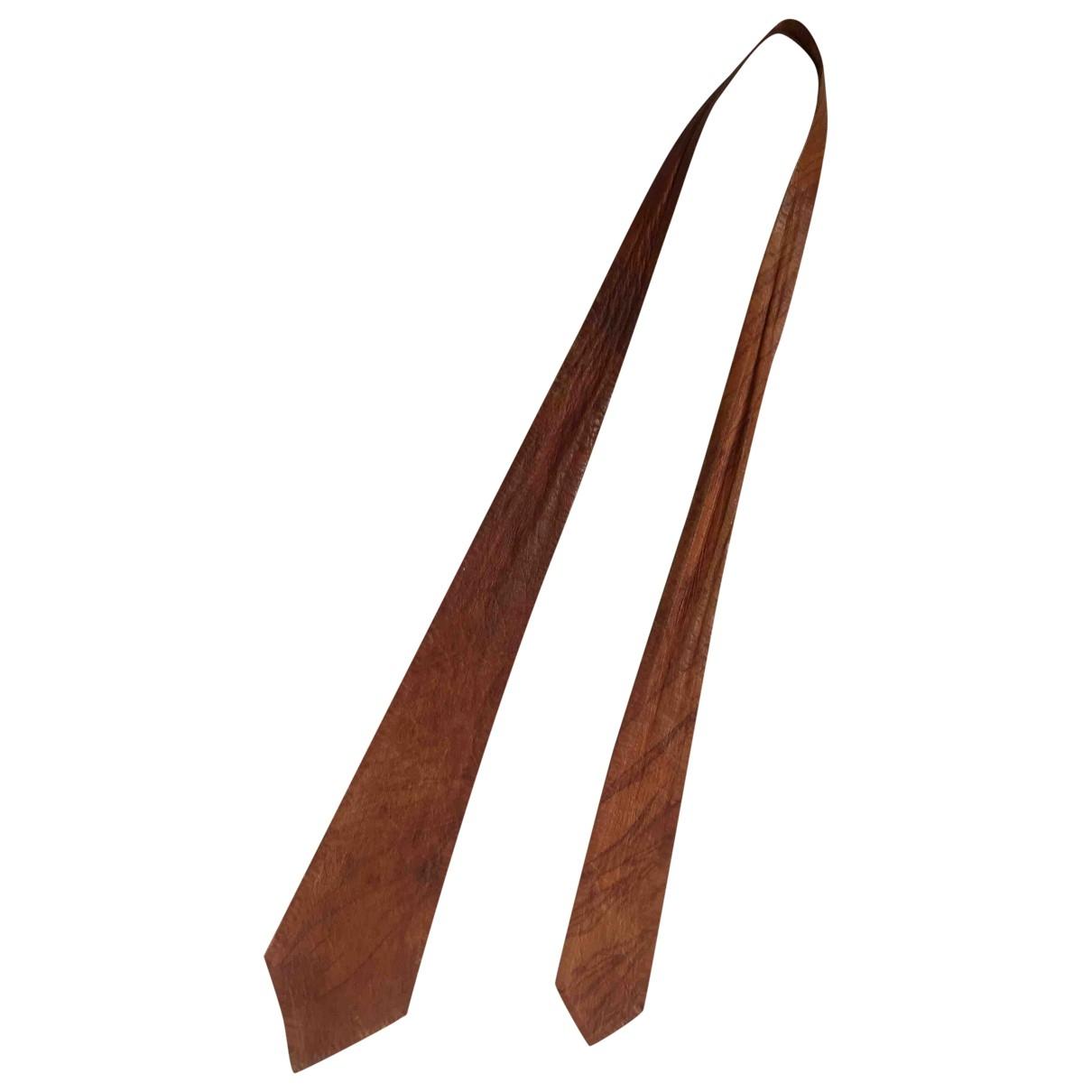 - Cravates   pour homme en cuir - marron