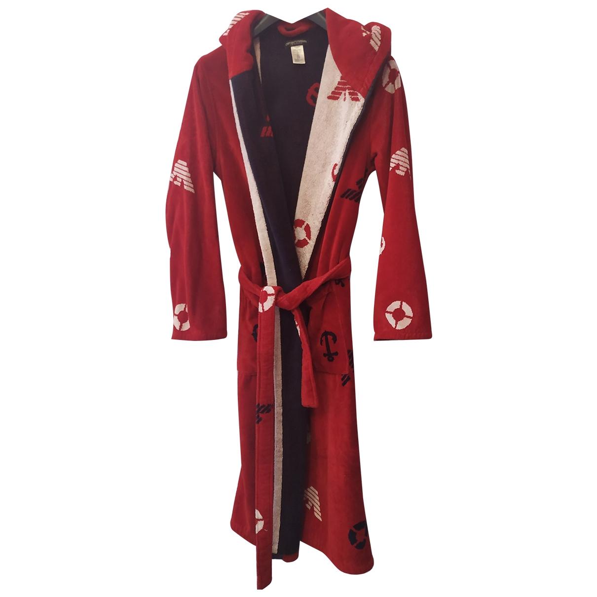 Emporio Armani - Linge de maison   pour lifestyle en coton - elasthane - rouge