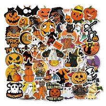 50pcs Halloween Pumpkin Pattern Sticker