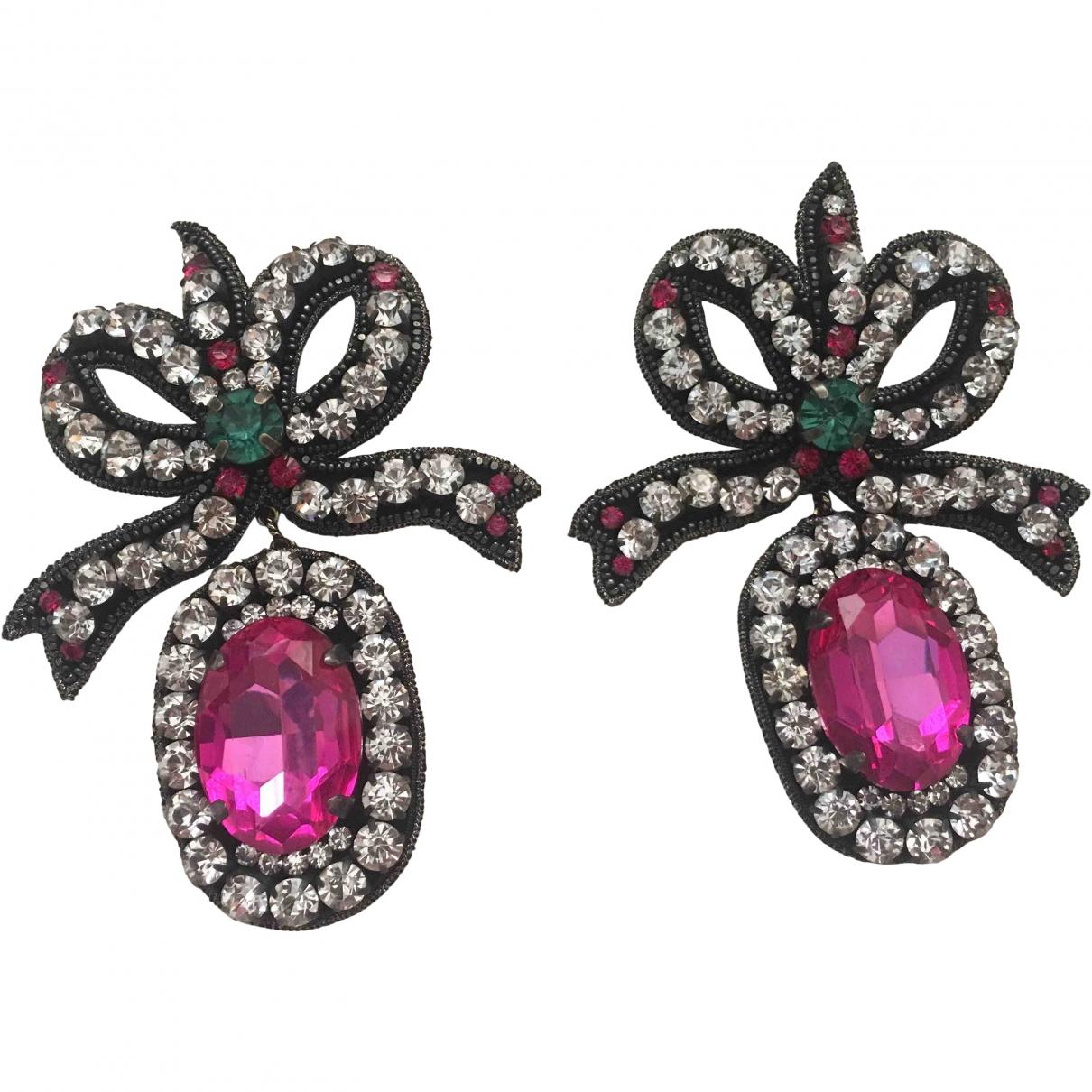 Gucci \N Pink Metal Earrings for Women \N
