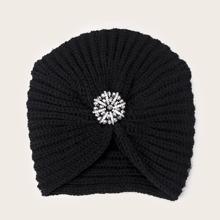 Sombrero turbante con diamante de imitacion