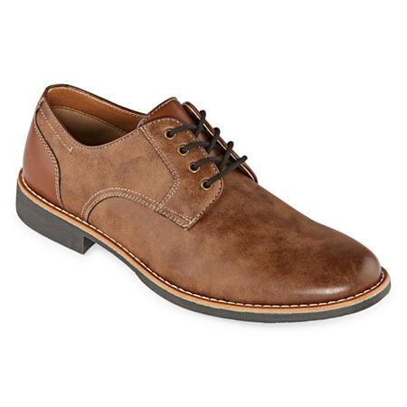St. John's Bay Mens Oliver Oxford Shoes, 8 Medium, Brown