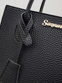 Girls Litchi Embossed Satchel Bag