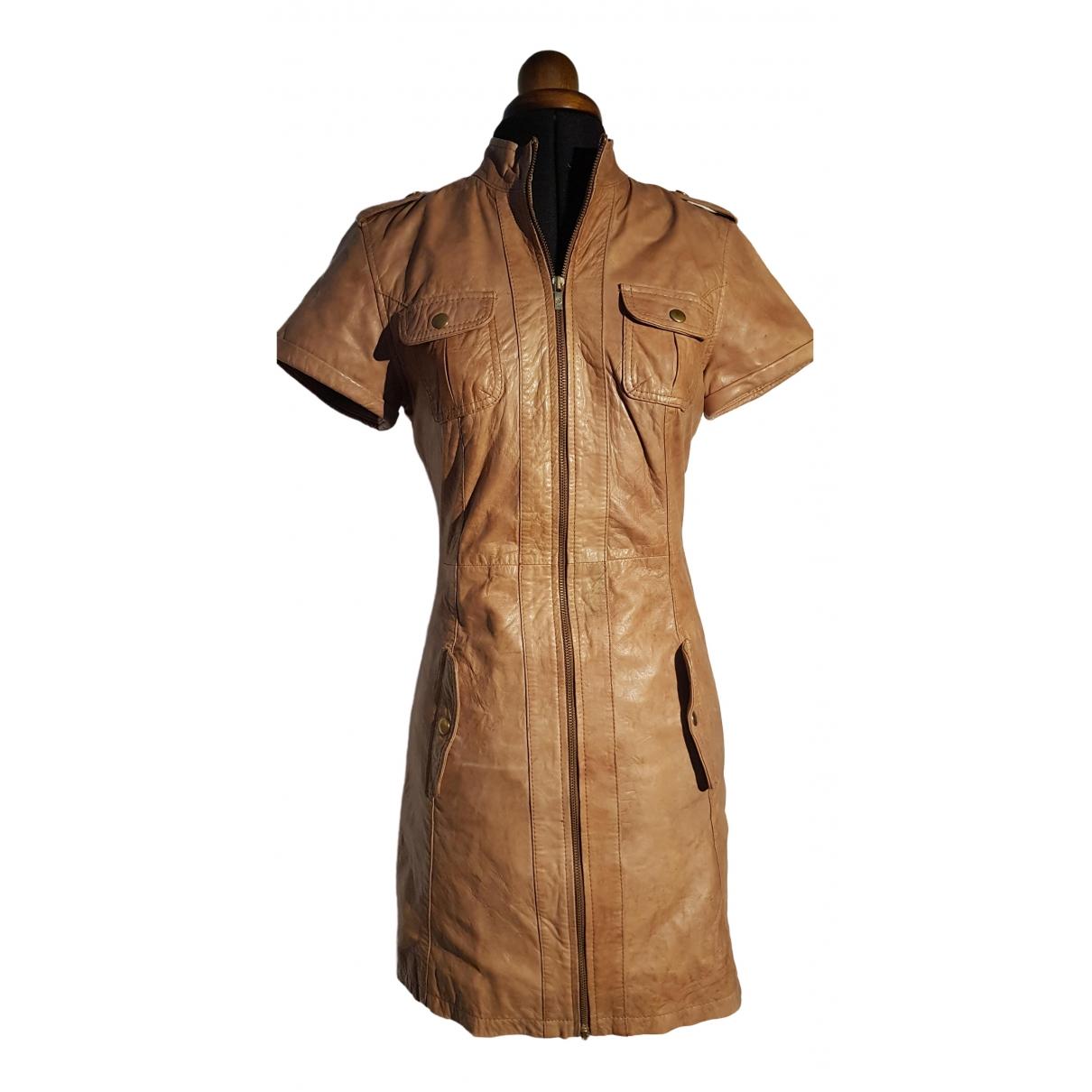 Goosecraft \N Kleid in  Braun Leder
